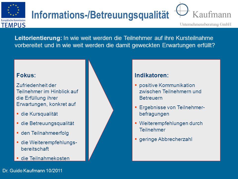 Informations-/Betreuungsqualität
