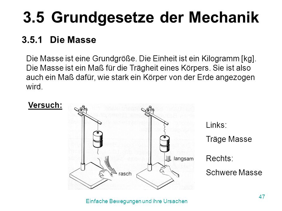 3.5 Grundgesetze der Mechanik