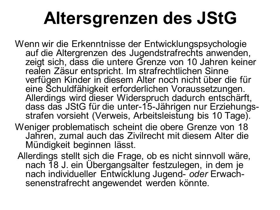 Altersgrenzen des JStG