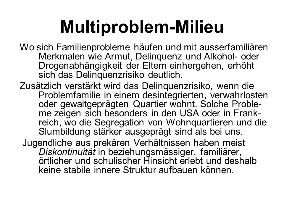 Multiproblem-Milieu