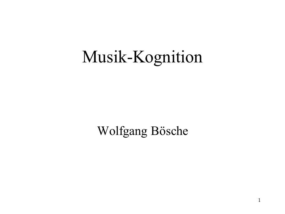 Musik-Kognition Wolfgang Bösche