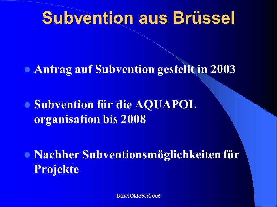 Subvention aus Brüssel