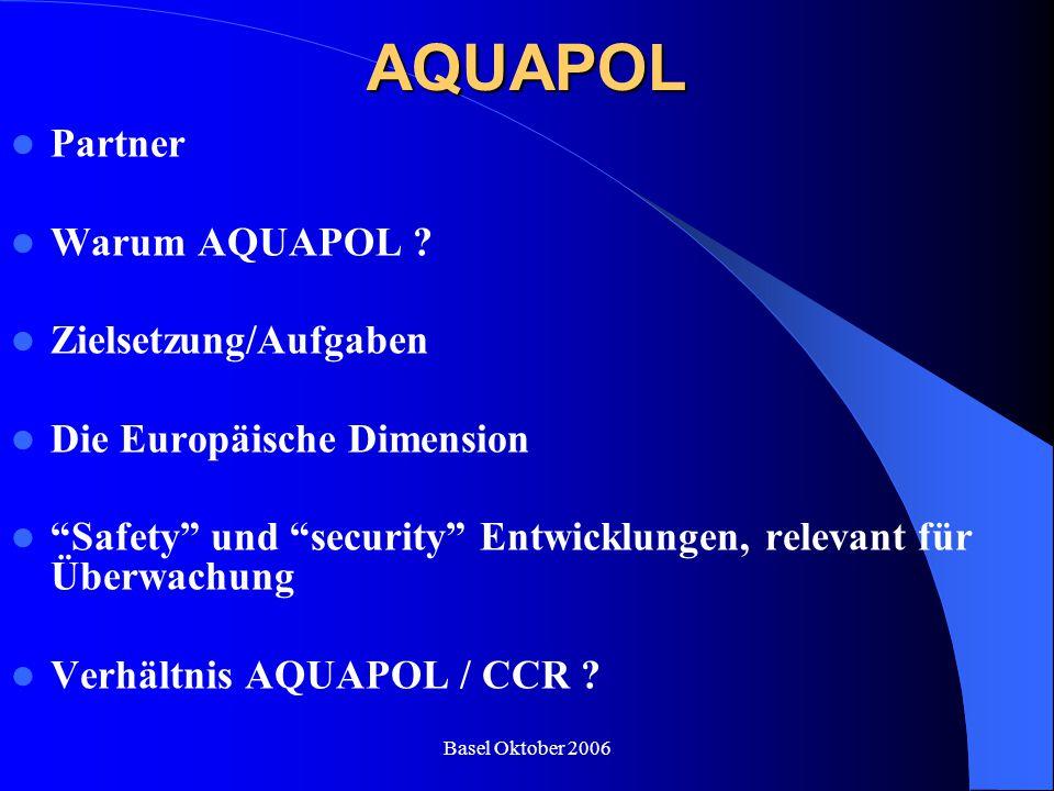 AQUAPOL Partner Warum AQUAPOL Zielsetzung/Aufgaben