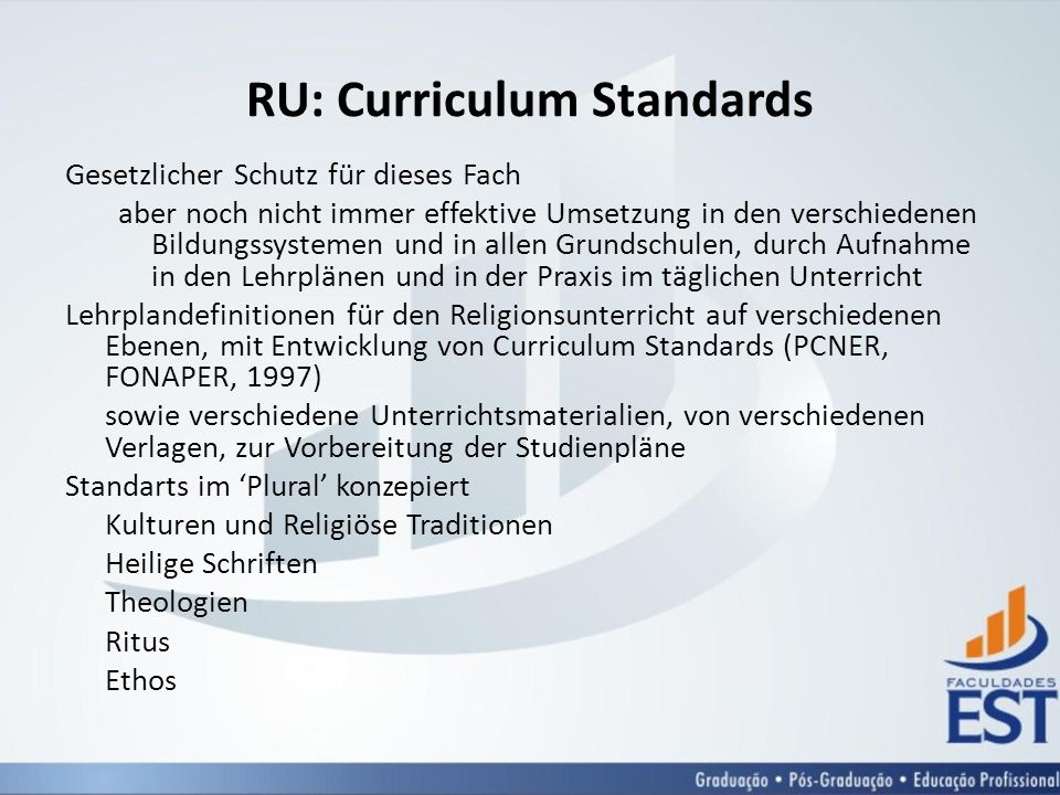 RU: Curriculum Standards