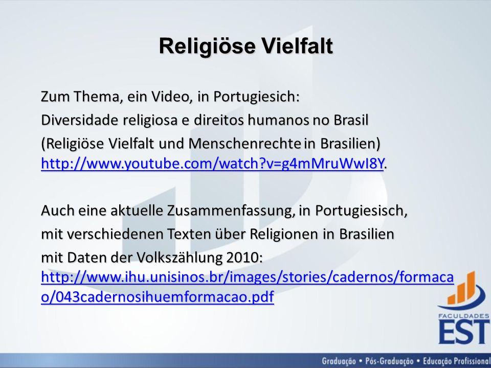 Religiöse Vielfalt Zum Thema, ein Video, in Portugiesich: