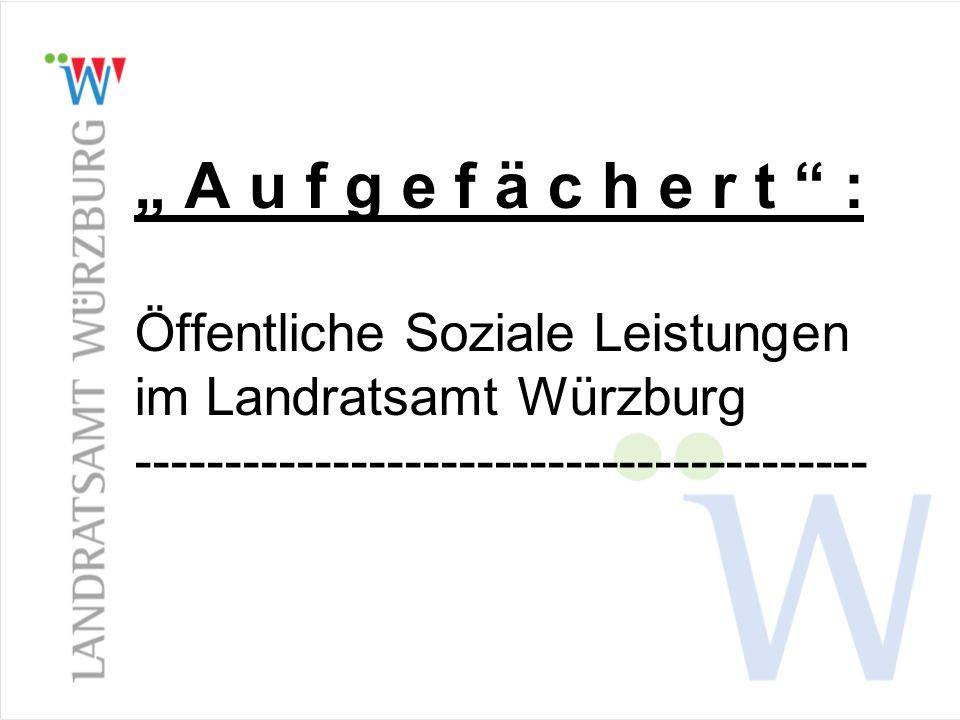 """ A u f g e f ä c h e r t : Öffentliche Soziale Leistungen im Landratsamt Würzburg -----------------------------------------"