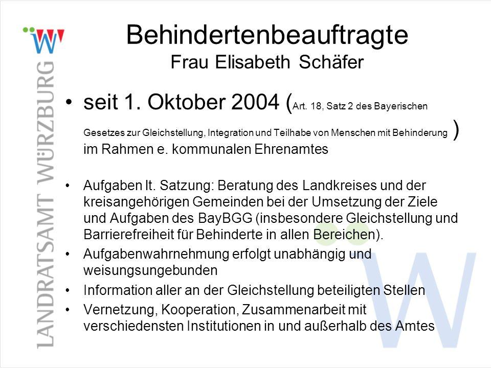Behindertenbeauftragte Frau Elisabeth Schäfer