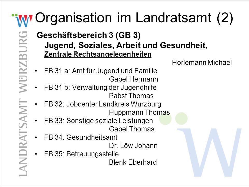 Organisation im Landratsamt (2)