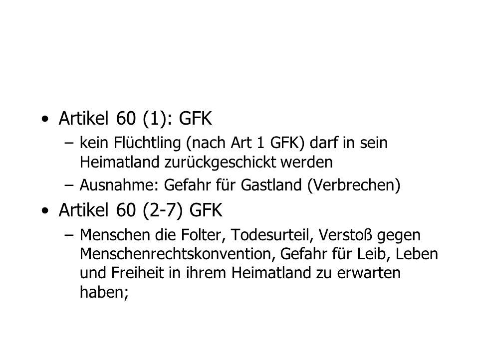 Artikel 60 (1): GFK Artikel 60 (2-7) GFK