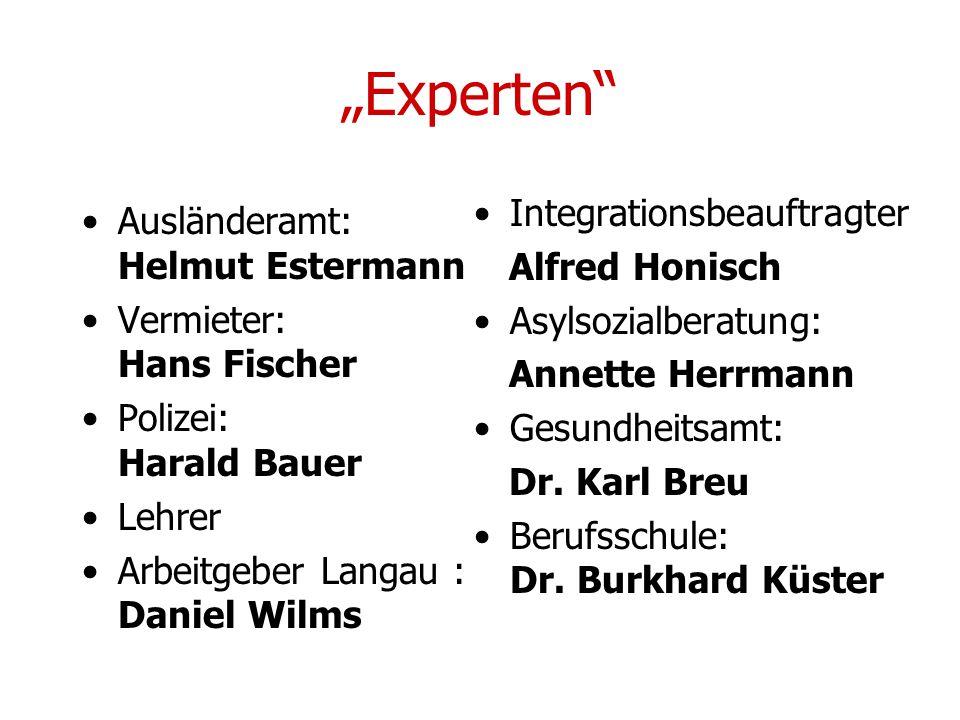"""""""Experten Integrationsbeauftragter Ausländeramt: Helmut Estermann"""