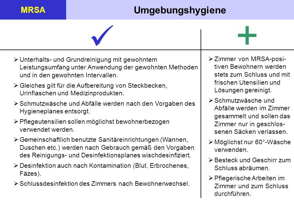 +  Umgebungshygiene MRSA