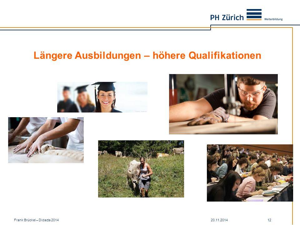 Längere Ausbildungen – höhere Qualifikationen