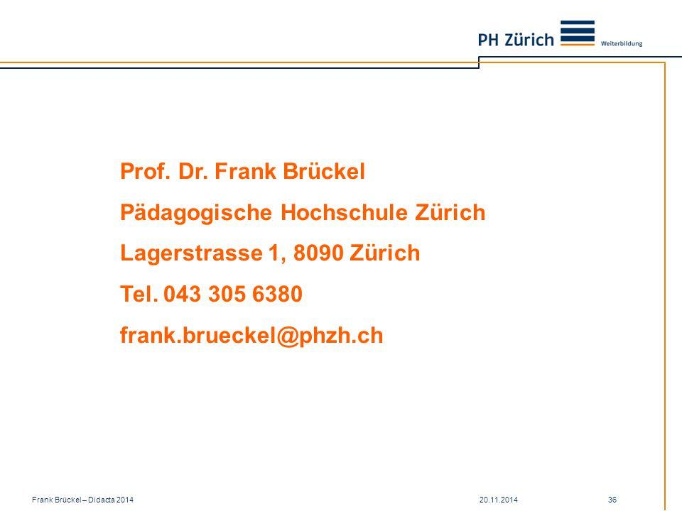 Pädagogische Hochschule Zürich Lagerstrasse 1, 8090 Zürich