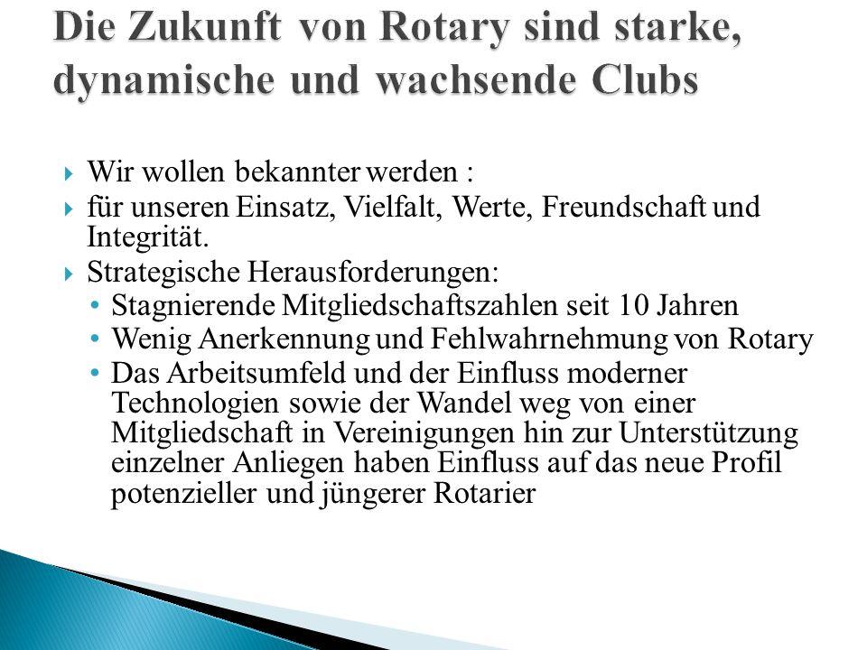 Die Zukunft von Rotary sind starke, dynamische und wachsende Clubs
