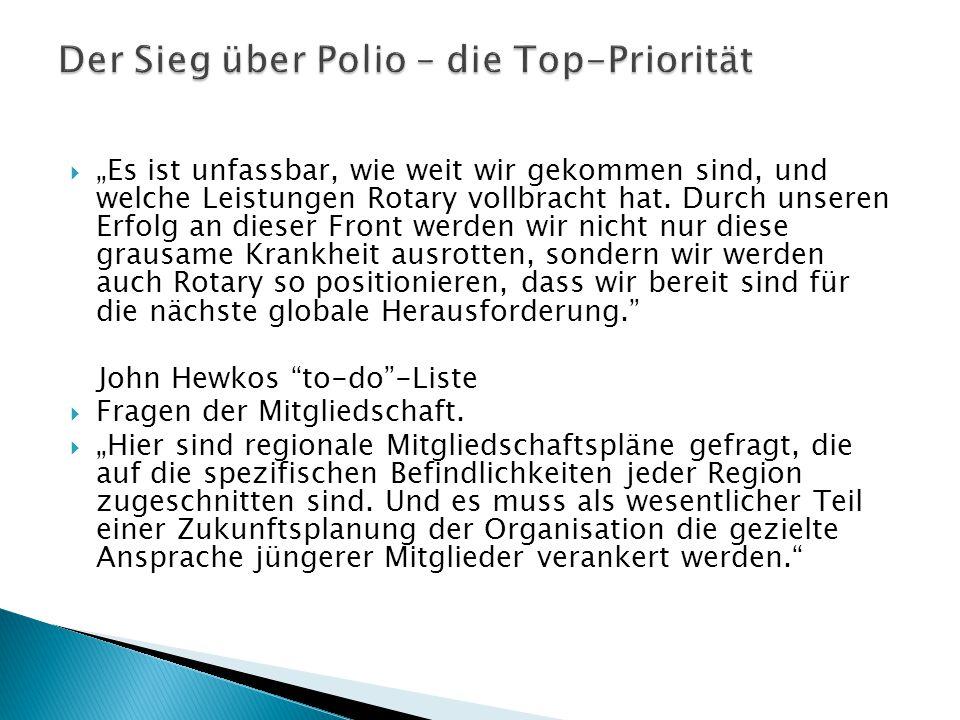 Der Sieg über Polio – die Top-Priorität