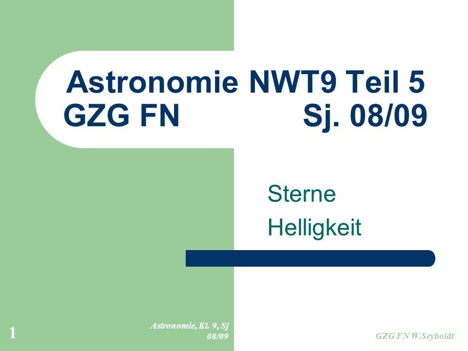 Astronomie NWT9 Teil 5 GZG FN Sj. 08/09