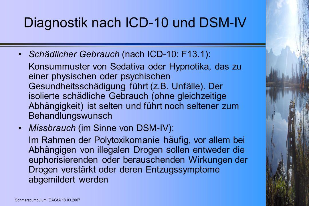 Diagnostik nach ICD-10 und DSM-IV