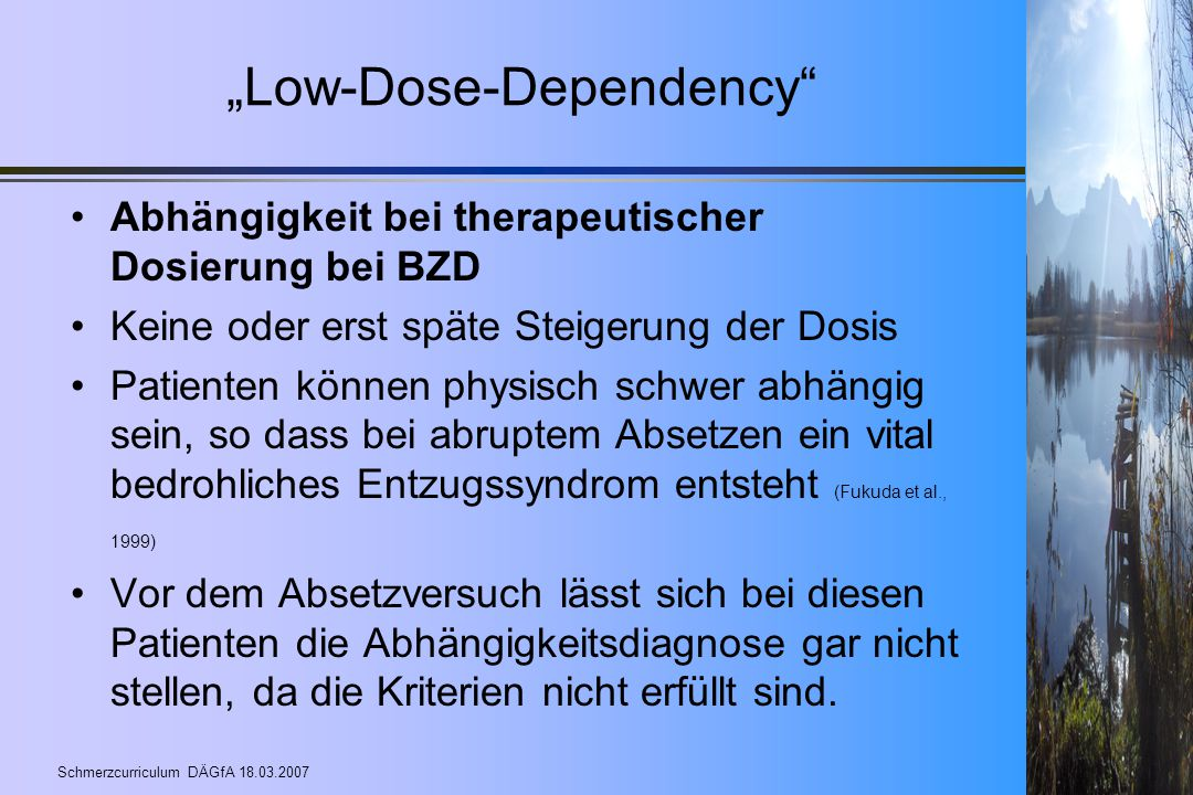 """Low-Dose-Dependency"