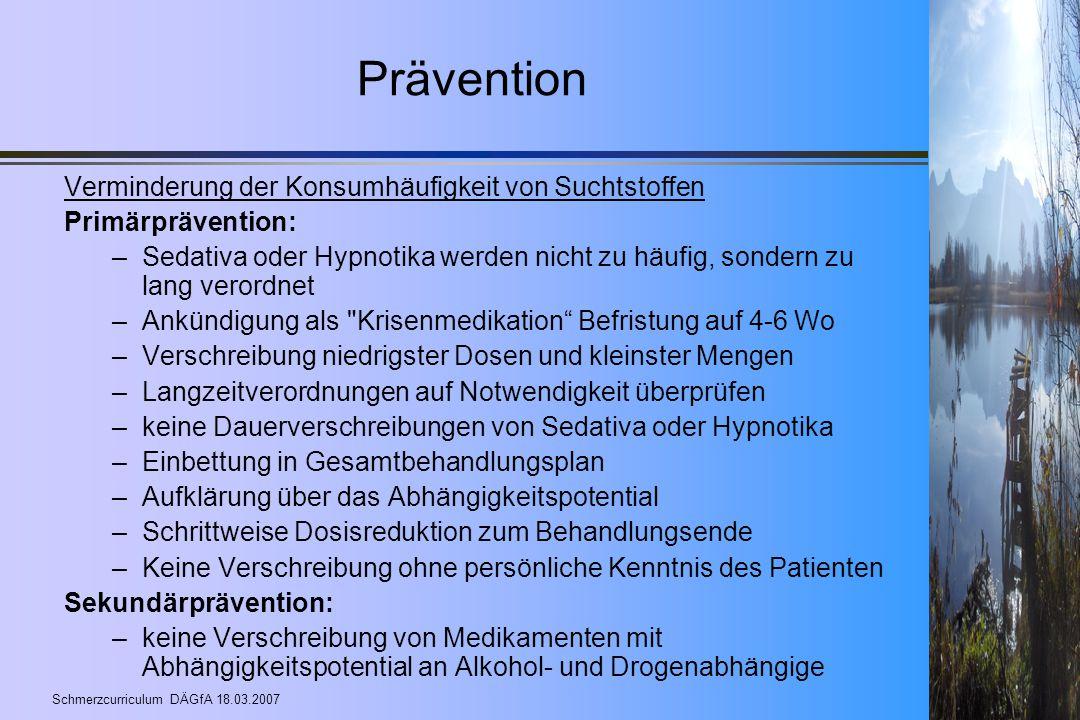 Prävention Verminderung der Konsumhäufigkeit von Suchtstoffen