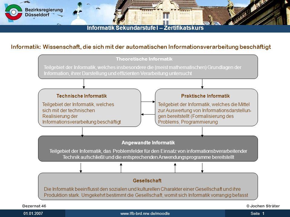 Technische Informatik Praktische Informatik Angewandte Informatik