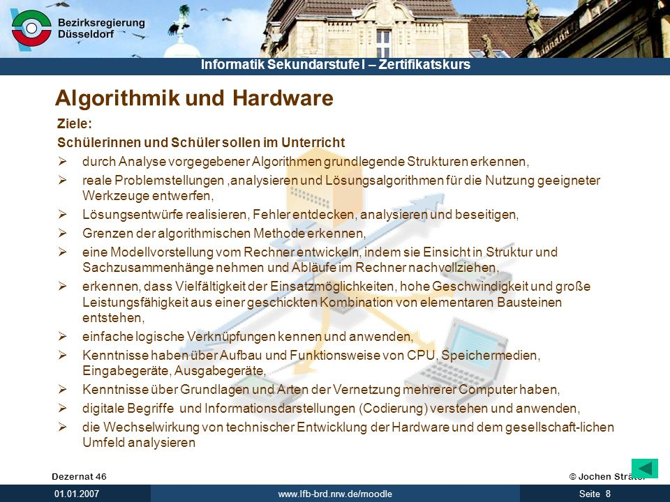 Algorithmik und Hardware