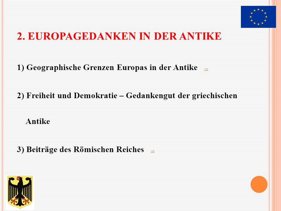 2. Europagedanken in der Antike