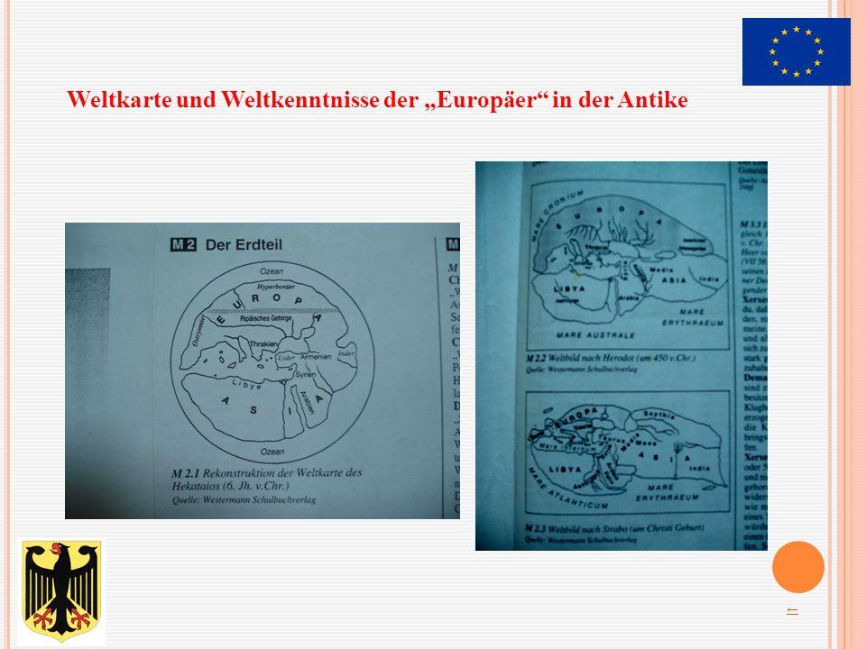 """Weltkarte und Weltkenntnisse der """"Europäer in der Antike"""