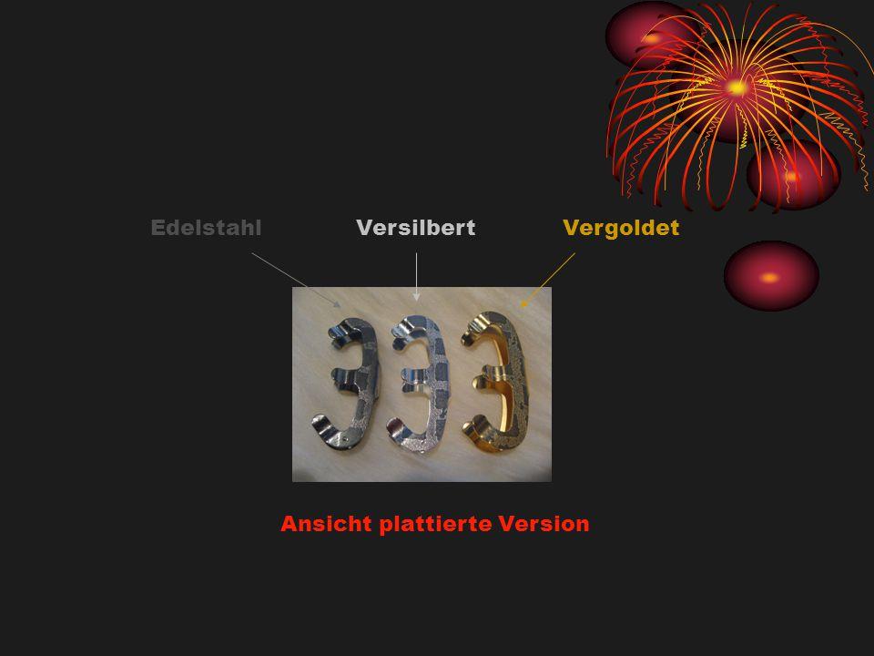 Edelstahl Versilbert Vergoldet Ansicht plattierte Version