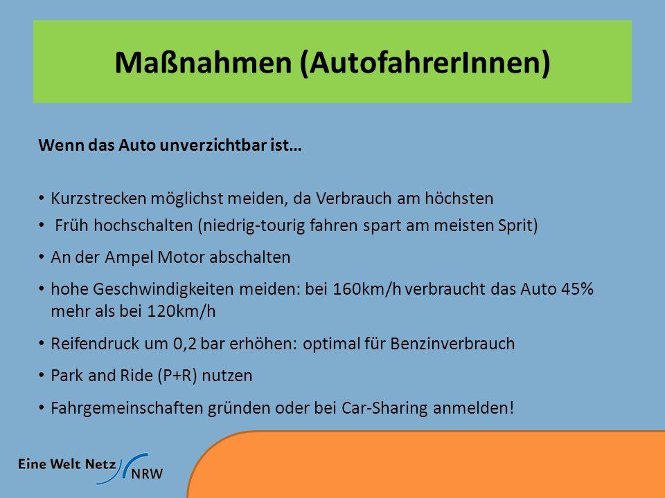 Maßnahmen (AutofahrerInnen)