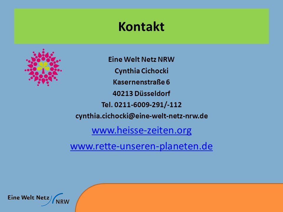 Kontakt www.heisse-zeiten.org www.rette-unseren-planeten.de