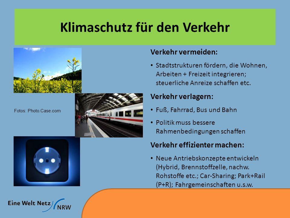 Klimaschutz für den Verkehr