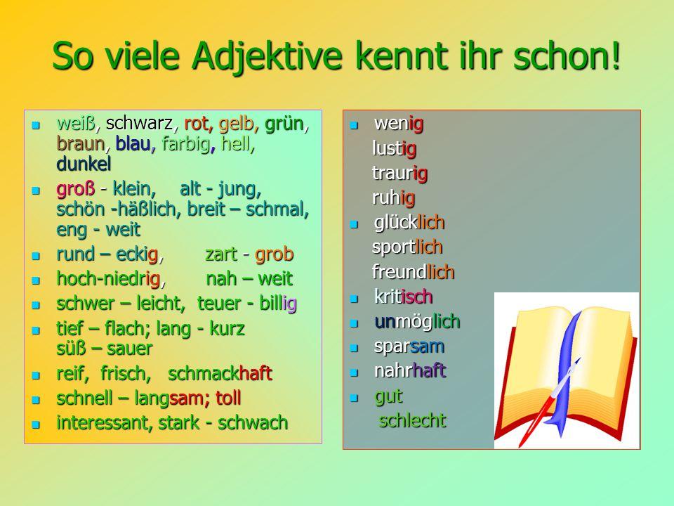 So viele Adjektive kennt ihr schon!