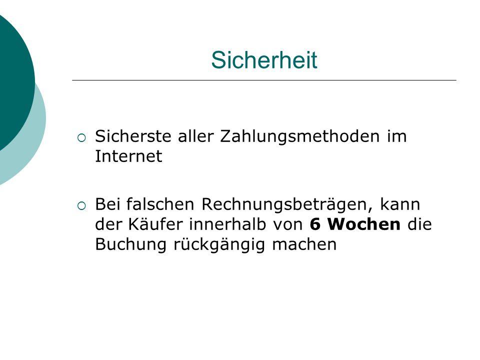 Sicherheit Sicherste aller Zahlungsmethoden im Internet