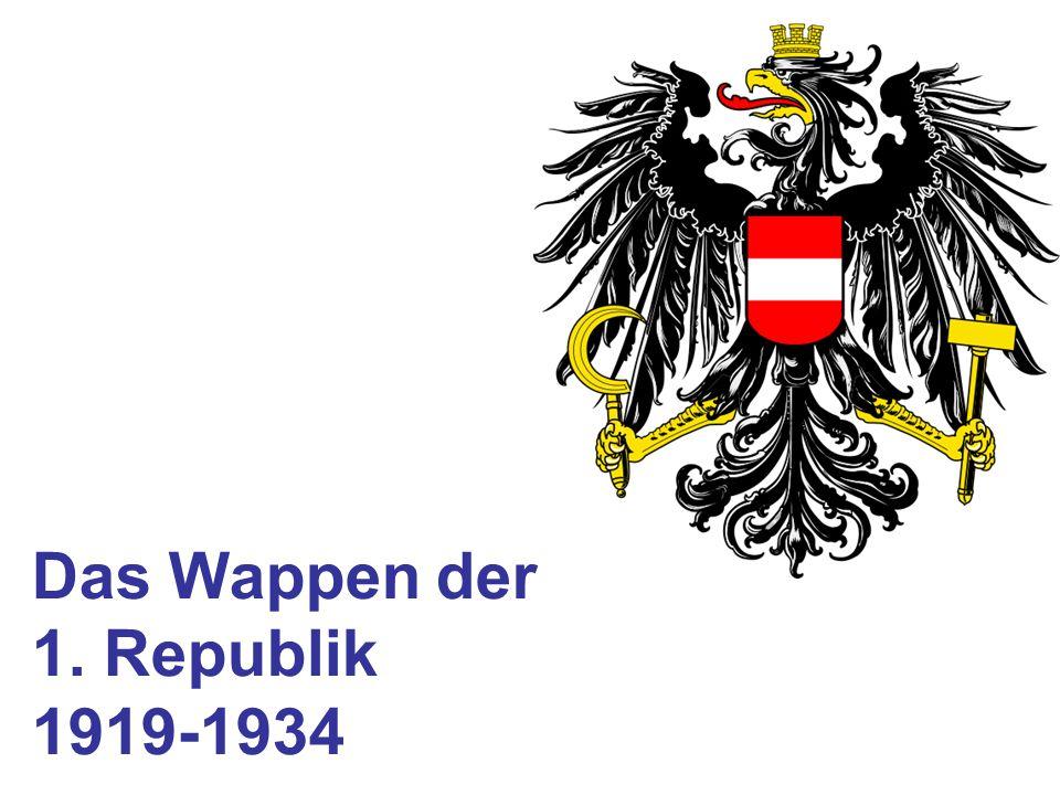 Das Wappen der 1. Republik 1919-1934
