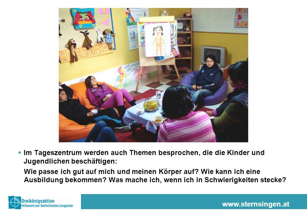 Im Tageszentrum werden auch Themen besprochen, die die Kinder und Jugendlichen beschäftigen:
