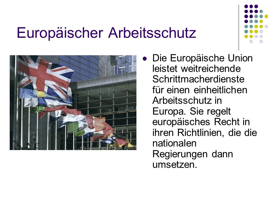 Europäischer Arbeitsschutz
