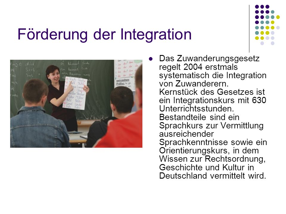 Förderung der Integration
