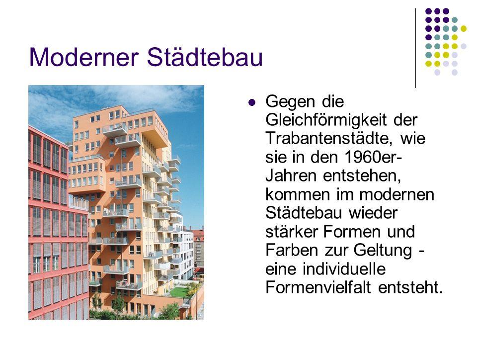 Moderner Städtebau