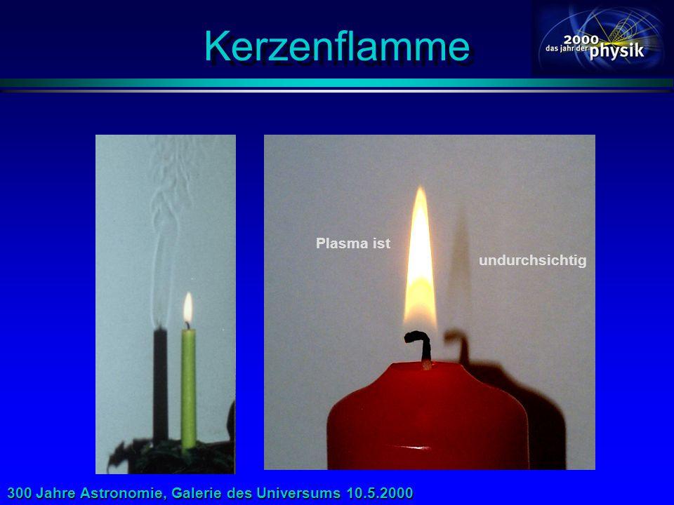 Kerzenflamme Plasma ist undurchsichtig