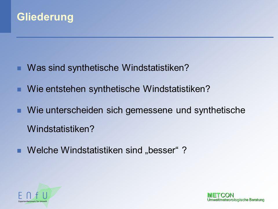 Gliederung Was sind synthetische Windstatistiken