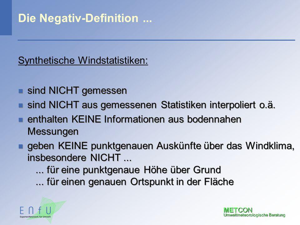 Die Negativ-Definition ...