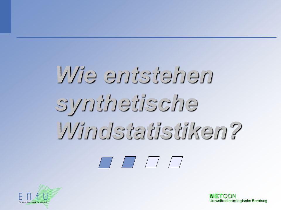 Wie entstehen synthetische Windstatistiken