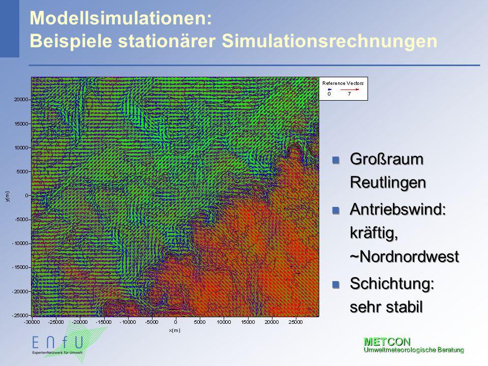 Modellsimulationen: Beispiele stationärer Simulationsrechnungen