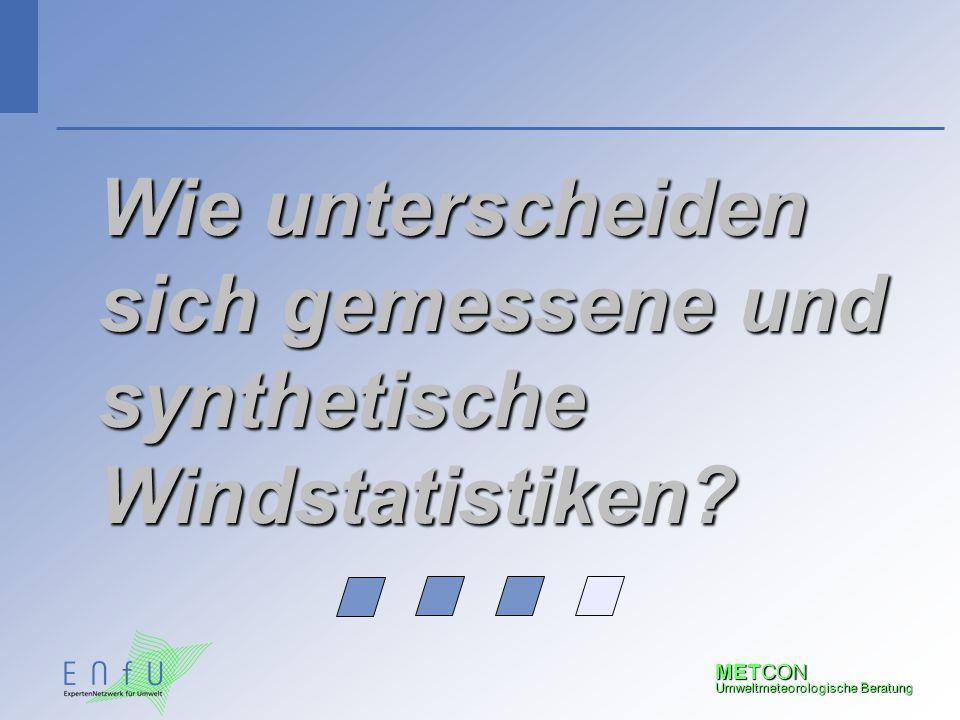 Wie unterscheiden sich gemessene und synthetische Windstatistiken