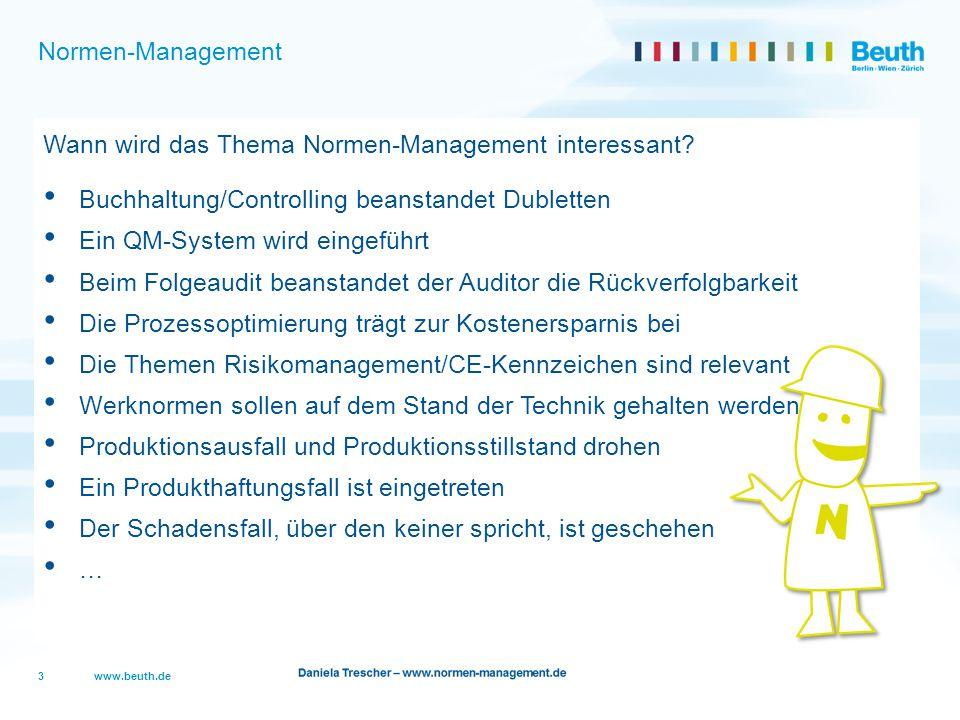 Wann wird das Thema Normen-Management interessant