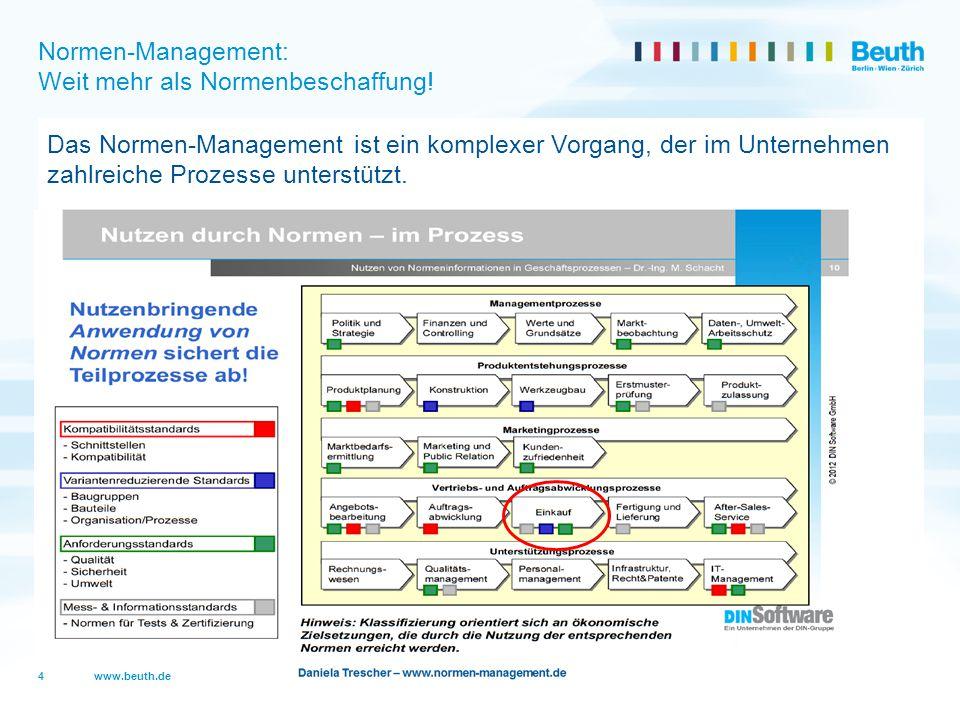 Normen-Management: Weit mehr als Normenbeschaffung!