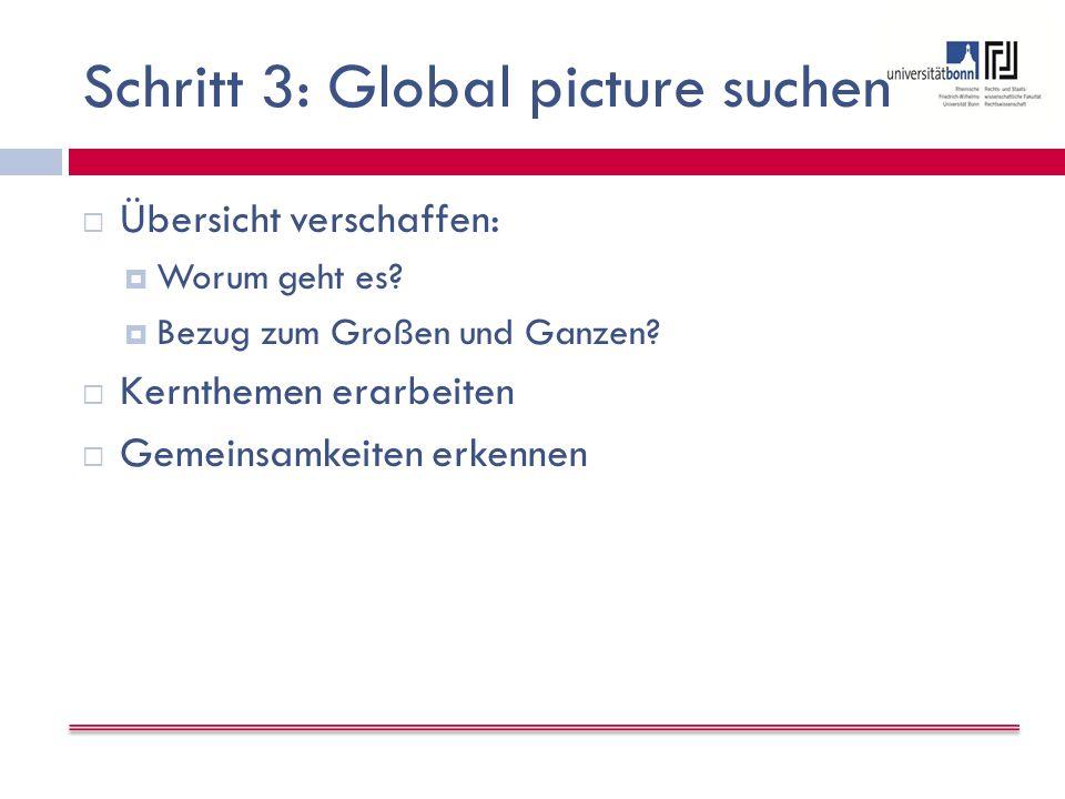 Schritt 3: Global picture suchen