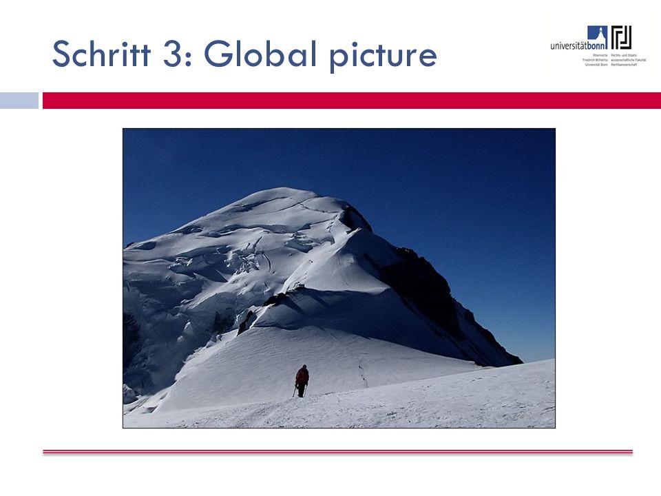 Schritt 3: Global picture