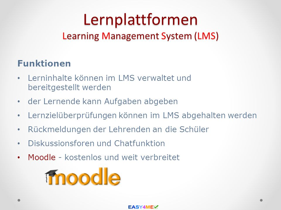 Lernplattformen Learning Management System (LMS)