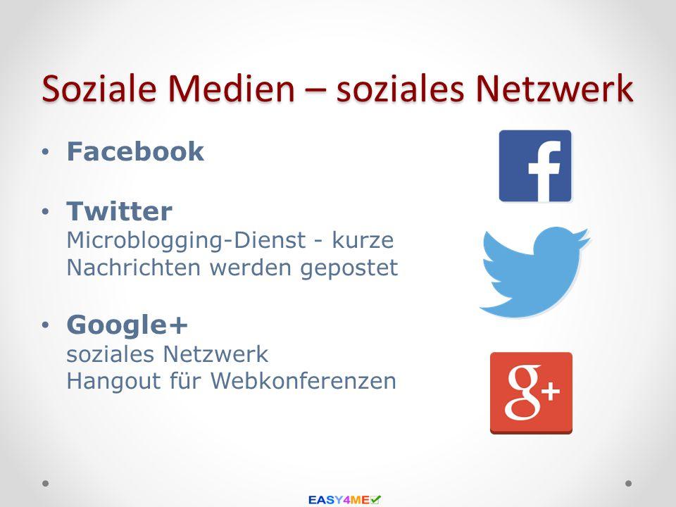 Soziale Medien – soziales Netzwerk